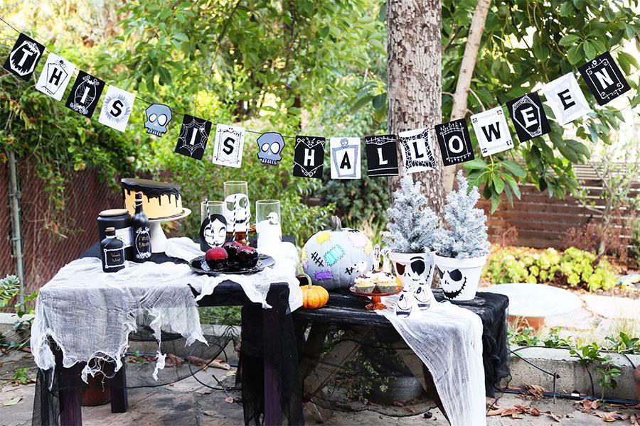 Buổi tiệc sinh nhật ngoài trời vô cùng ấn tượng với chủ đề Halloween